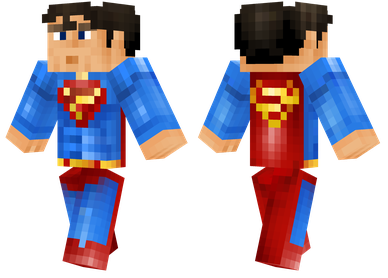 minecraft skin superman